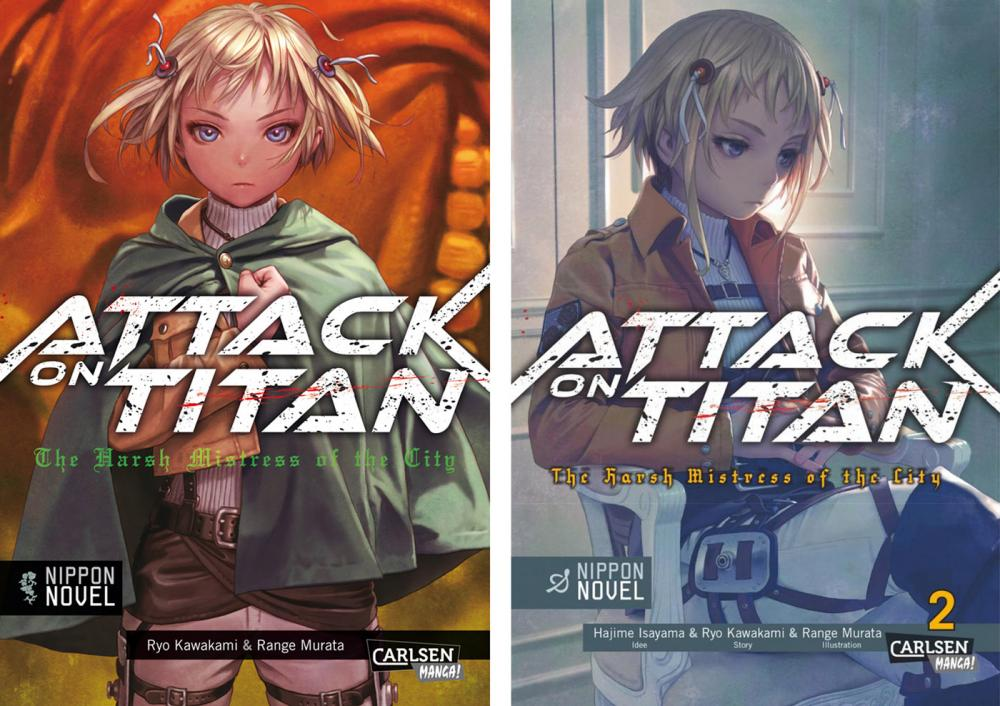 Attack on Titan (Roman) The Harsh Mistress of the City 1+2 (Pack)