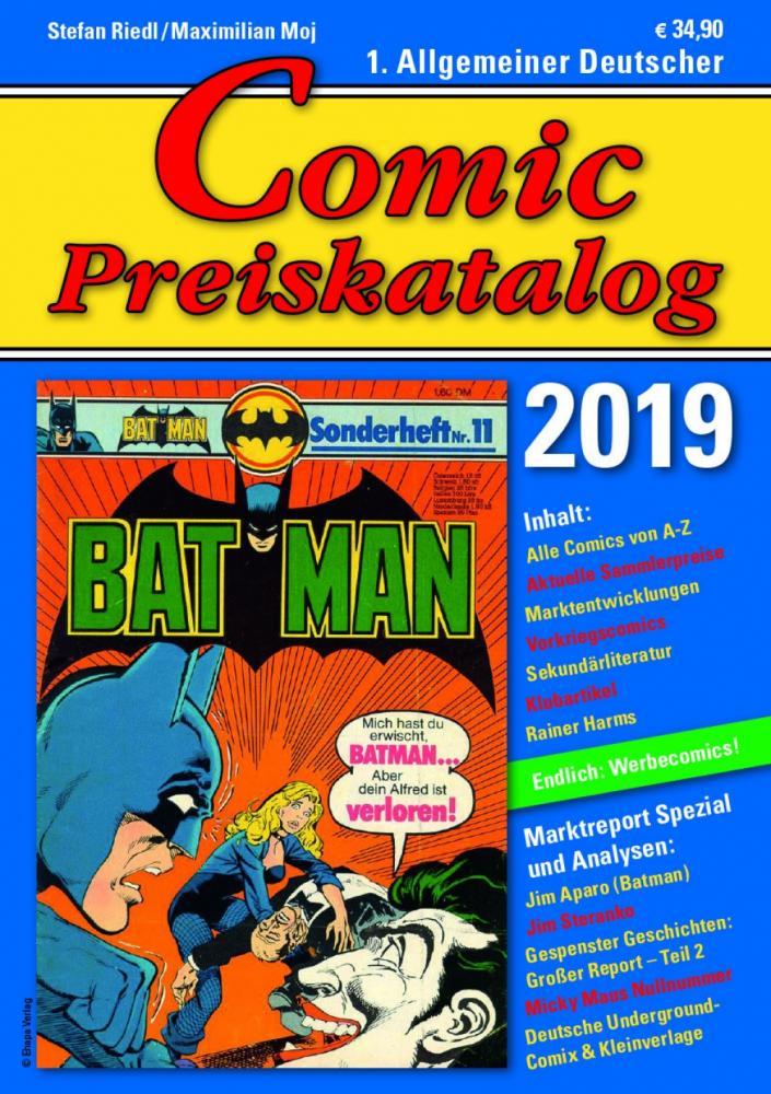 Comic Preiskatalog 2019 Softcover