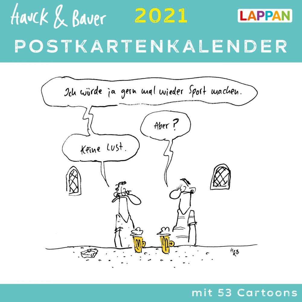 Hauck & Bauer Postkartenkalender 2021