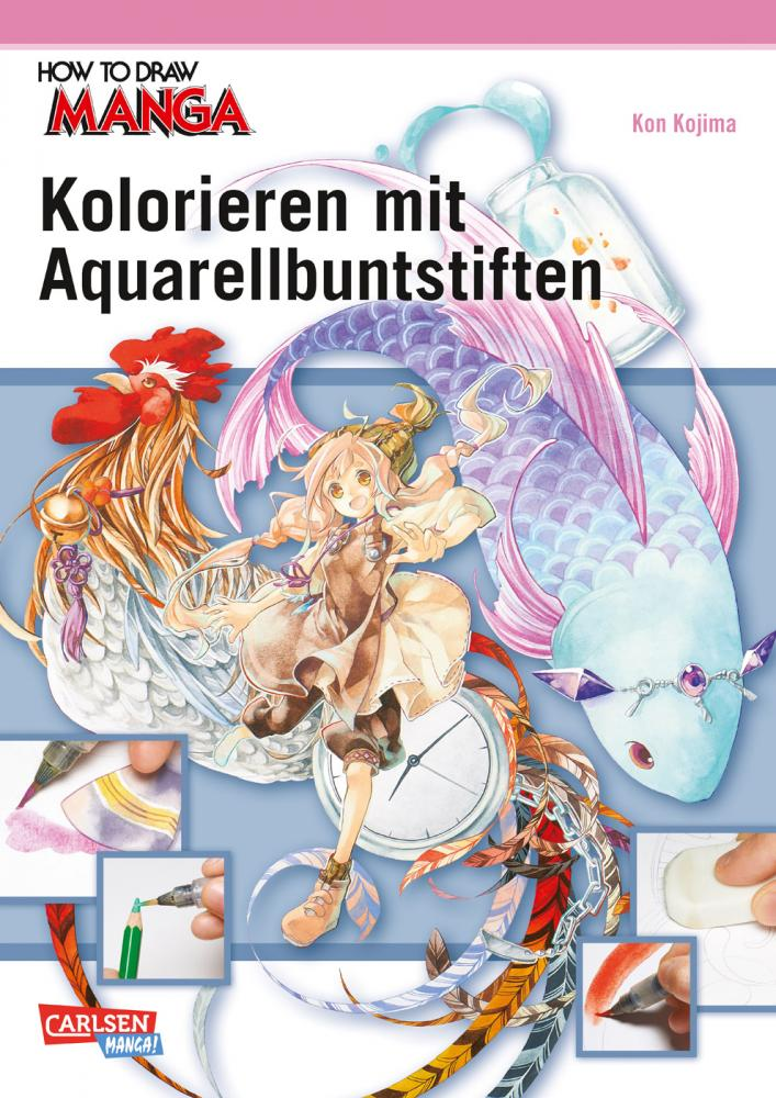 How to Draw Manga Kolorieren mit Aquarellbuntstiften