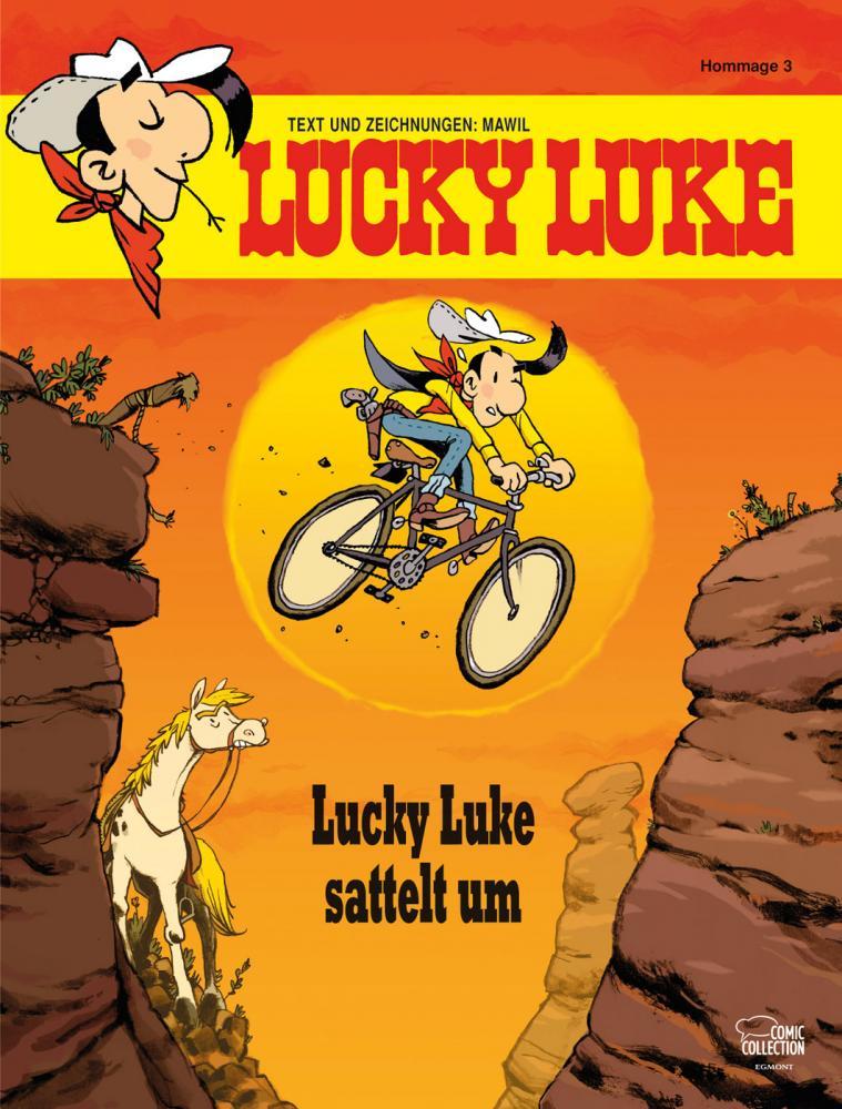 Lucky Luke (HC) Lucky Luke sattelt um (Hommage)