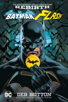 Batman/Flash: Der Button Hardcover (mit Batman-Button)