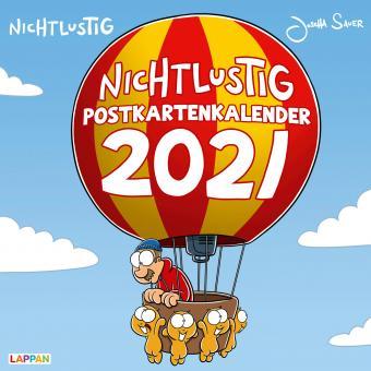 Nichtlustig Postkartenkalender 2021